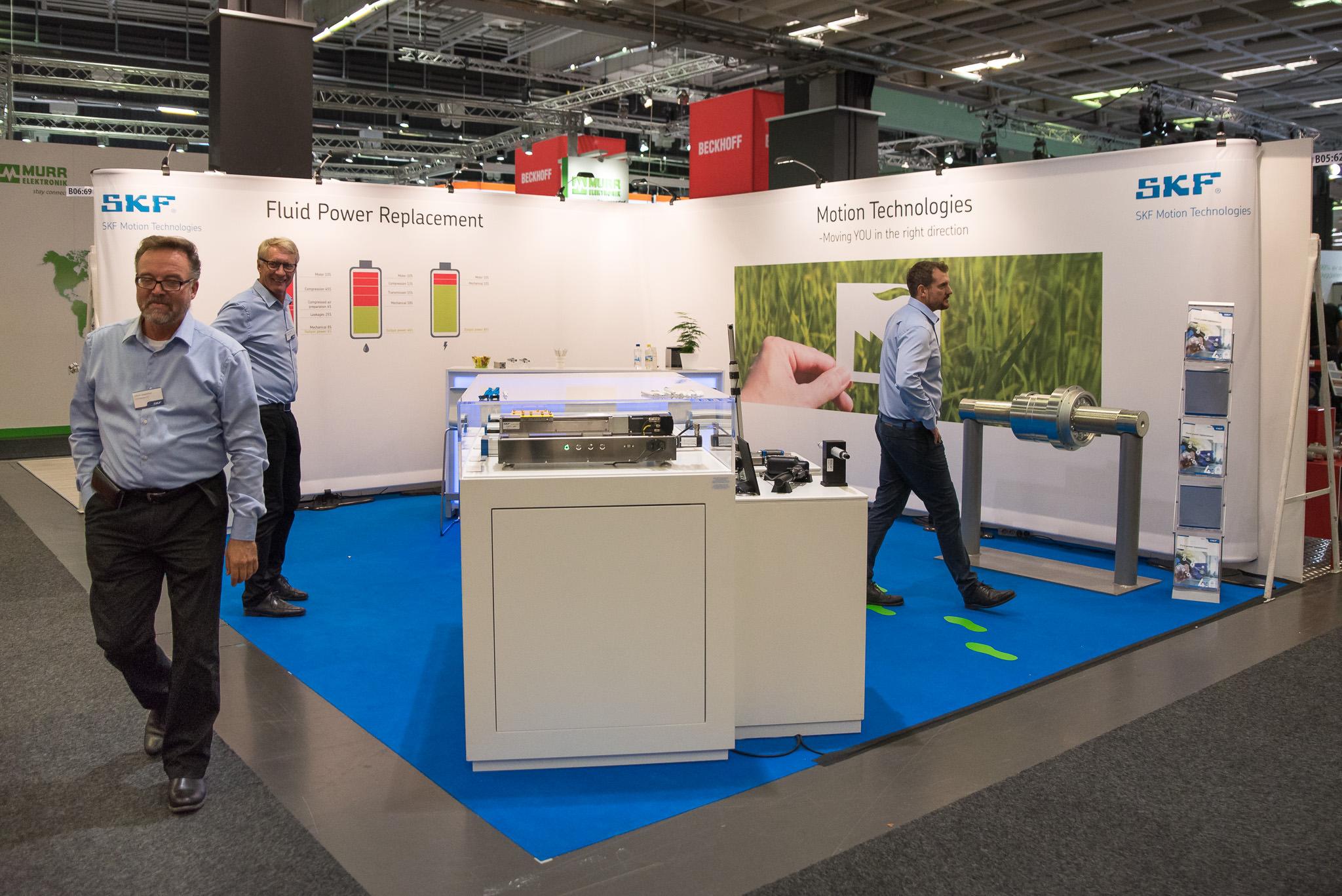 SKF Motion Technologies Monteryta Front Row Exhibitions Scanautomatic 2018 Svenska Mässan Göteborg
