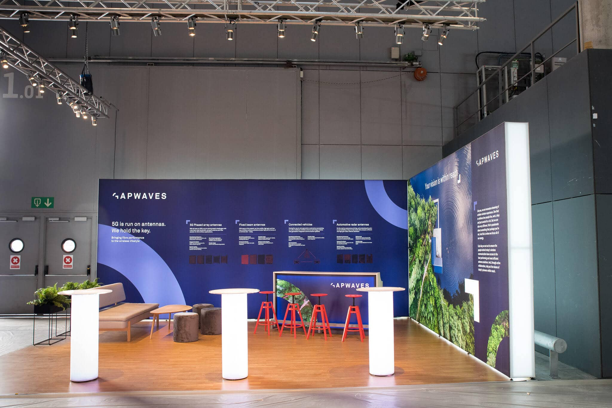 Gapwaves Mobile World Congress 2019 Monter Front Row Exhibitions