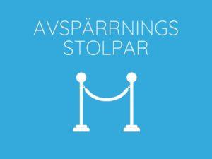 Hyr Avspärrningsstolpar Front Row Exhibitions Göteborg
