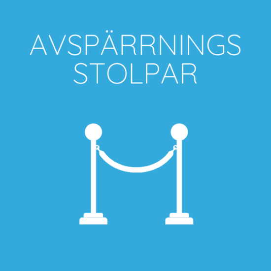 Hyr Avspärrningsstolpar Front Row Exhibitions