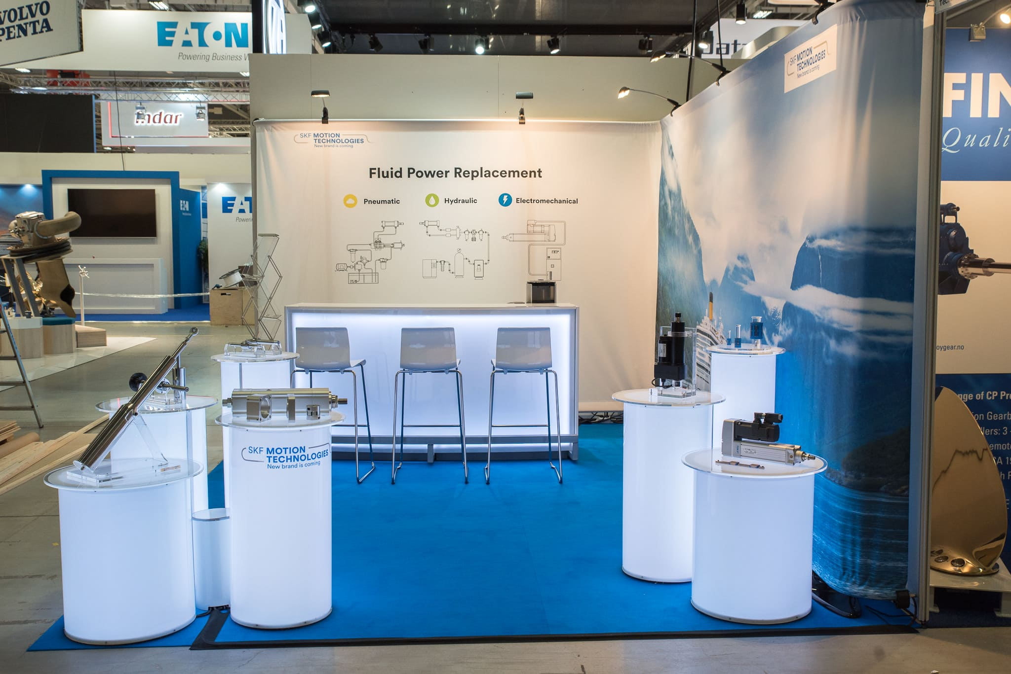 SKF Motion Technologies Nor Shipping 2019 Monter Front Row Exhibitions