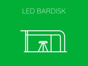 Hyr Bardisk LED-ljus Front Row Exhibitions