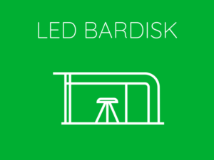 LED Bardisk Front Row Exhibitions Hyr av oss