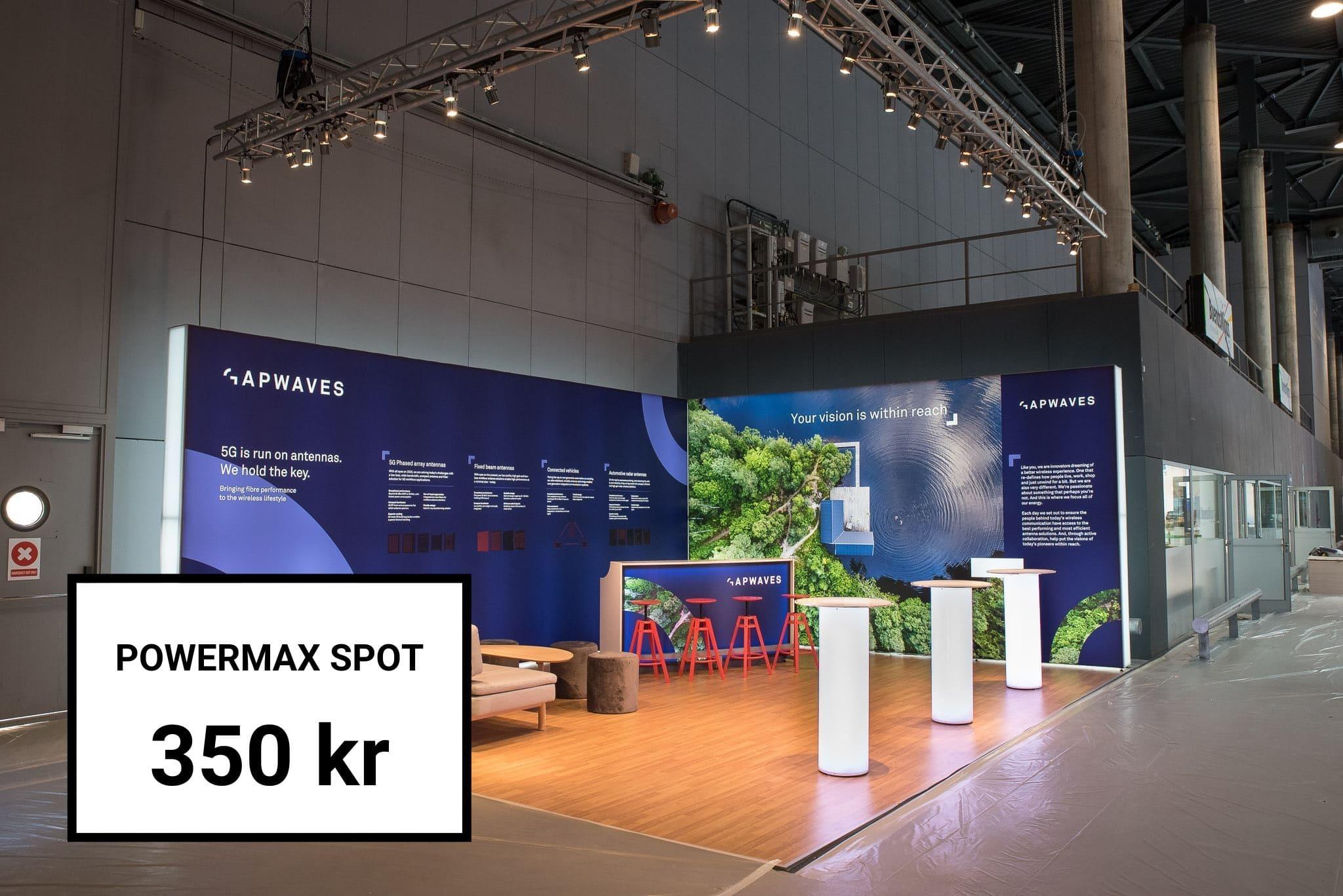 Hyr av oss Powermax Spot Belysning Front Row Exhibitions