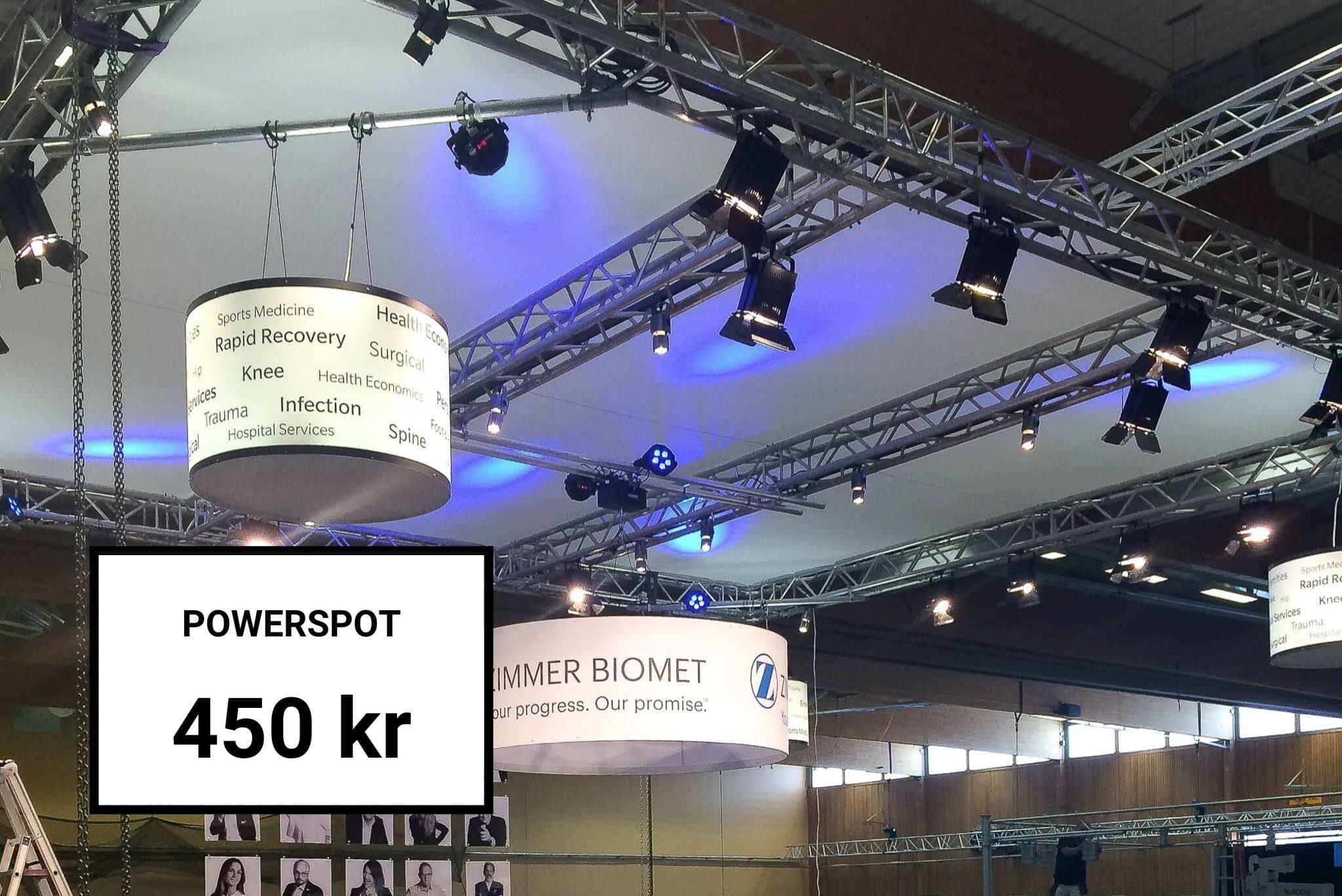 Hyr av oss Powerspot Belysning Front Row Exhibitions