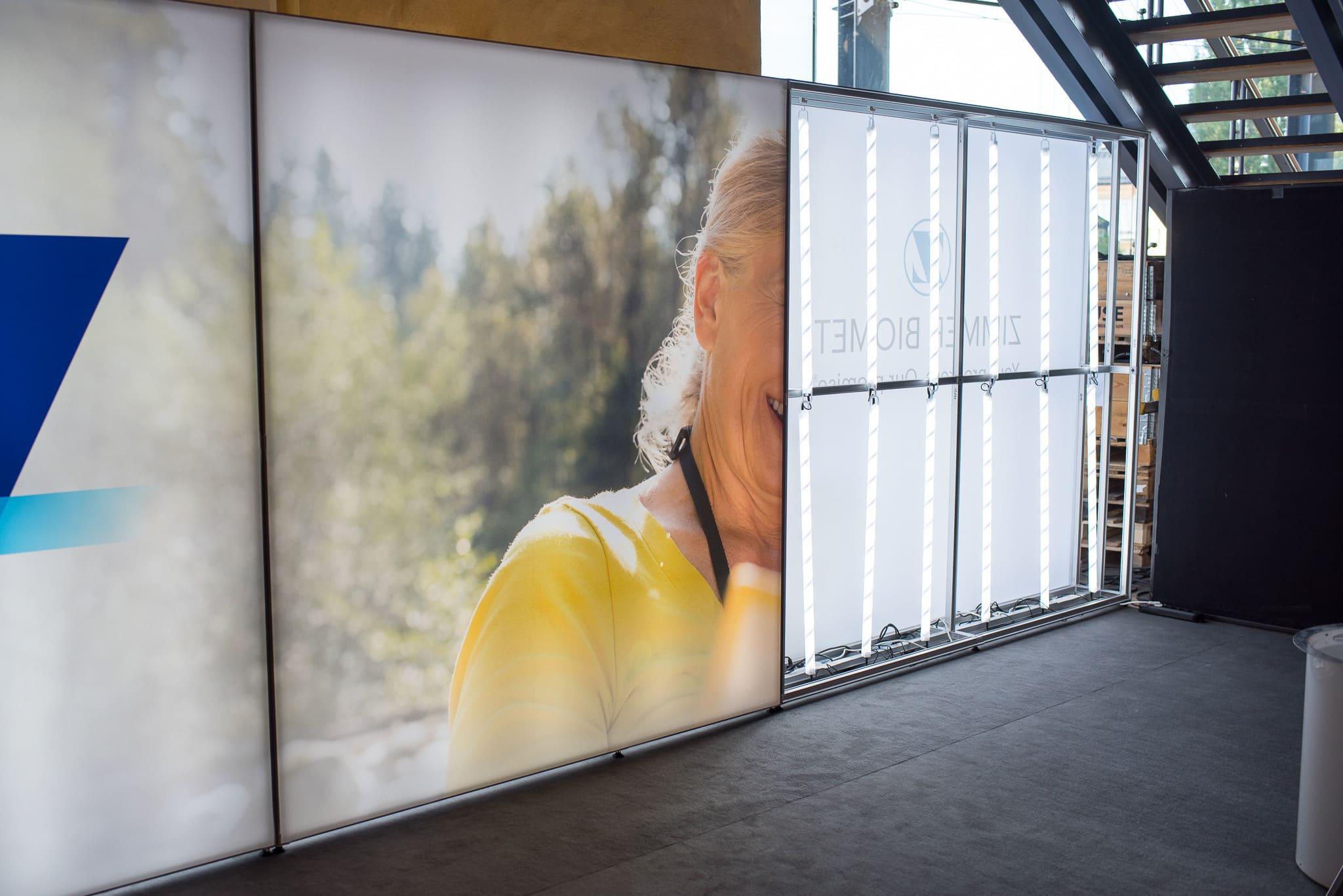 Front Row Exhibitions Monteryta Zimmer Biomet Ortopediveckan 2019 T3 Systems Wandlite