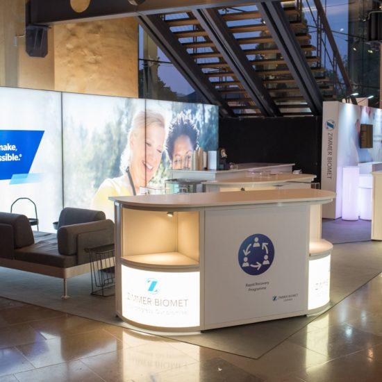 Monteryta Zimmer Biomet Ortopediveckan 2019 Front Row Exhibitions