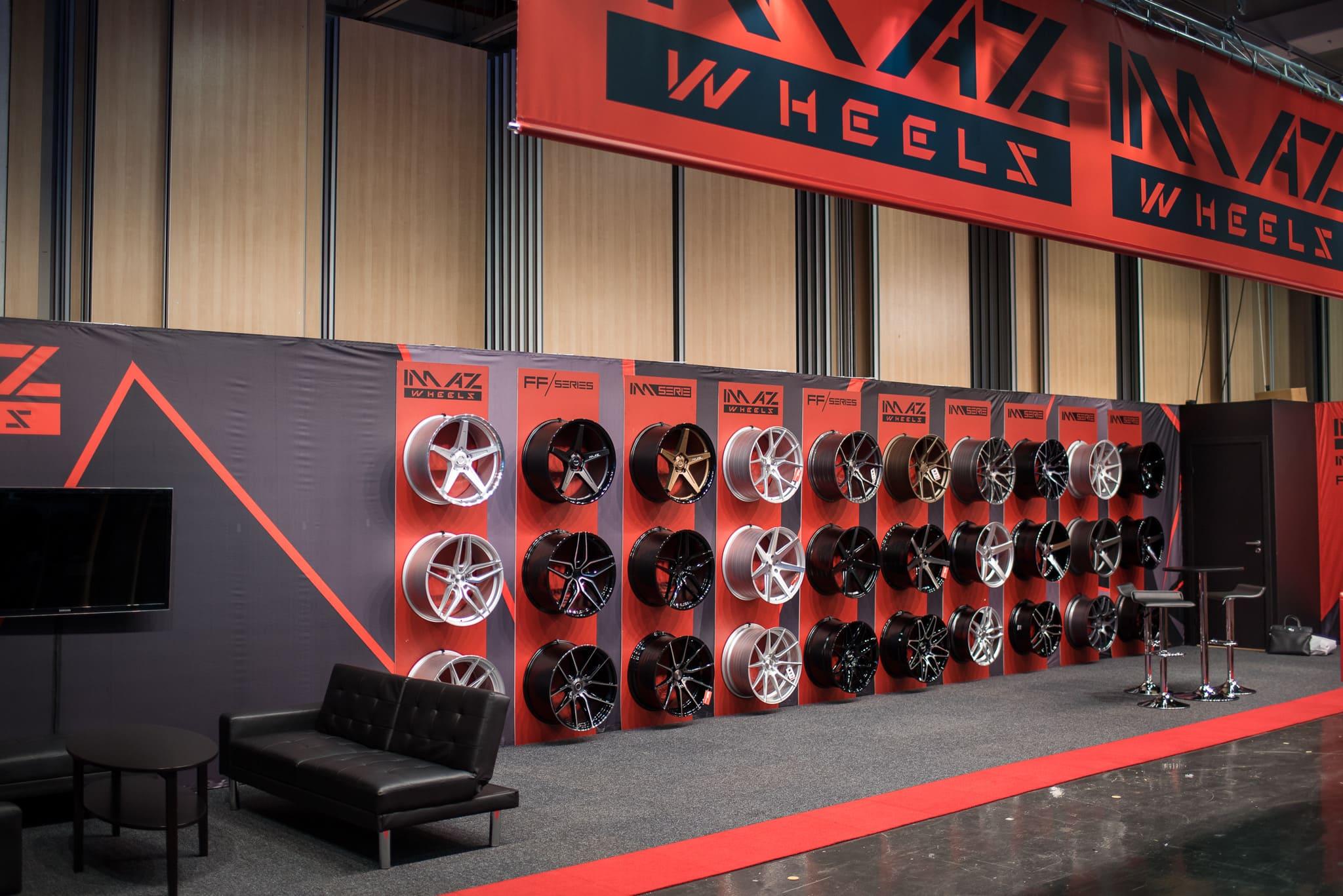 Däckline Imaz Wheels Monter Automässan 2020 Swedish Fair Göteborg Front Row Exhibitions