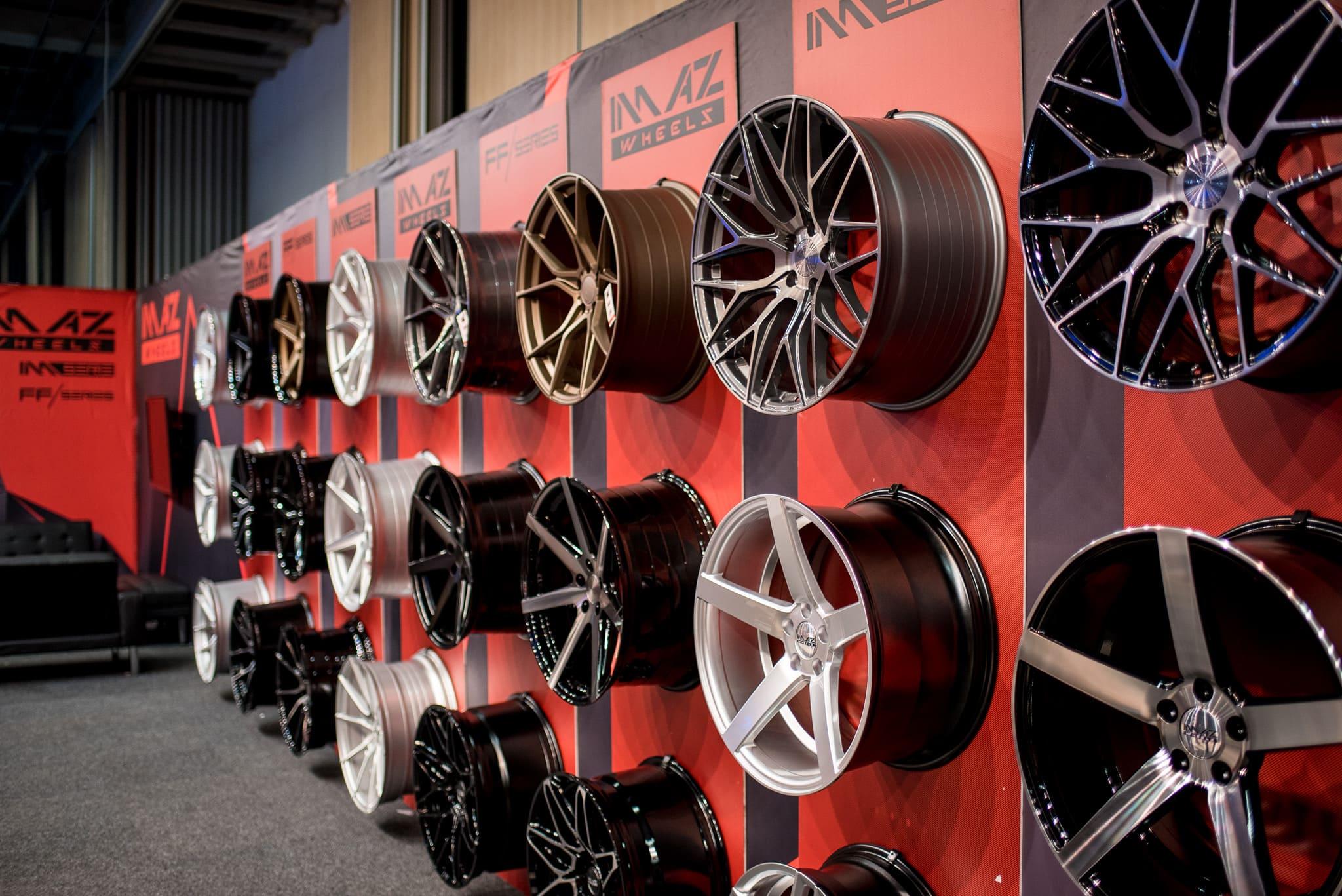 Däckline Imaz Wheels Monter Automässan 2020 Svenska Mässan Göteborg Front Row Exhibitions