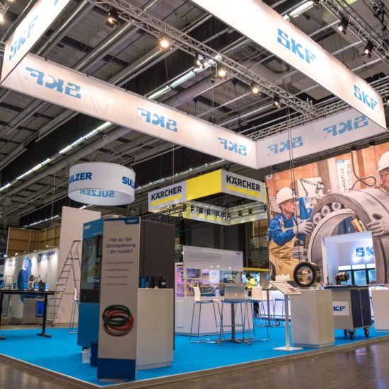SKF Maintenance Fair 2020 Stand Front Row Exhibitions