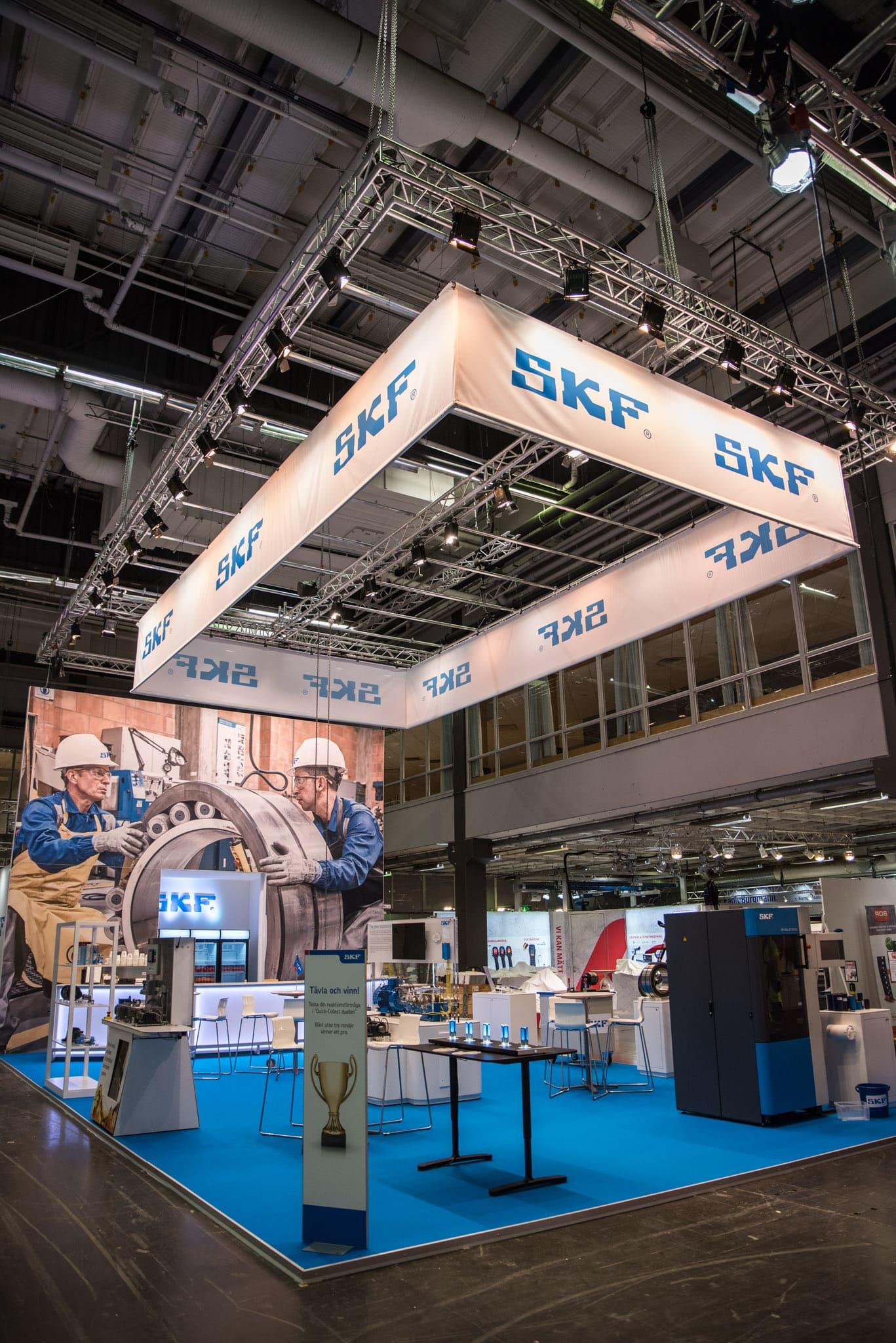 SKF Underhållsmässan 2020 Monter Front Row Exhibitions