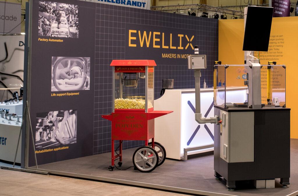 Popcornmaskin Ewellix Mässmonter Front Row Exhibitions Framgånsgtips